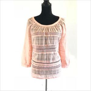 Ann Taylor Loft Embroidered Design Blouse